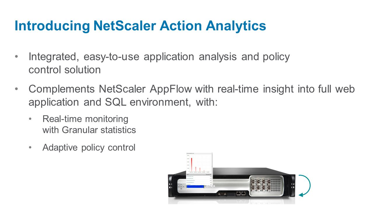 Introducing NetScaler Action Analytics