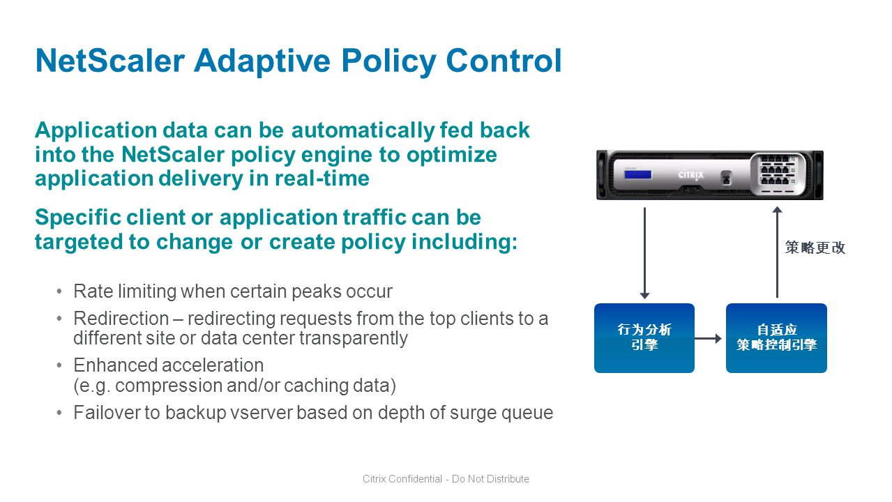 NetScaler Adaptive Policy Control
