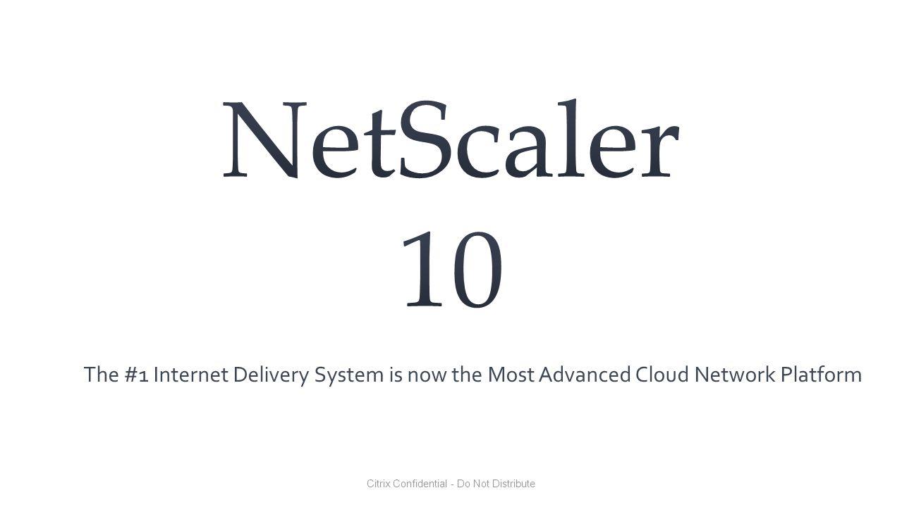 NetScaler 10.