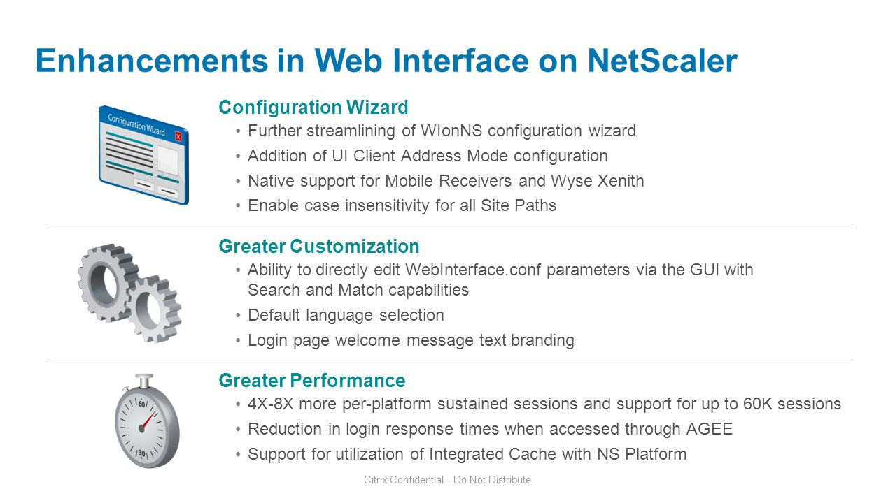 Enhancements in Web Interface on NetScaler