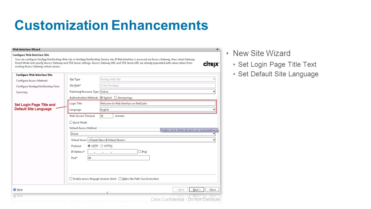Customization Enhancements