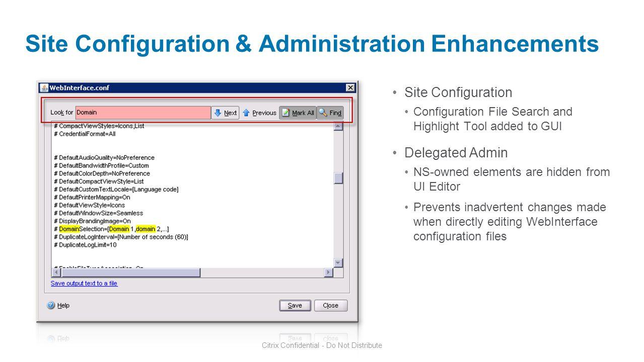 Site Configuration & Administration Enhancements