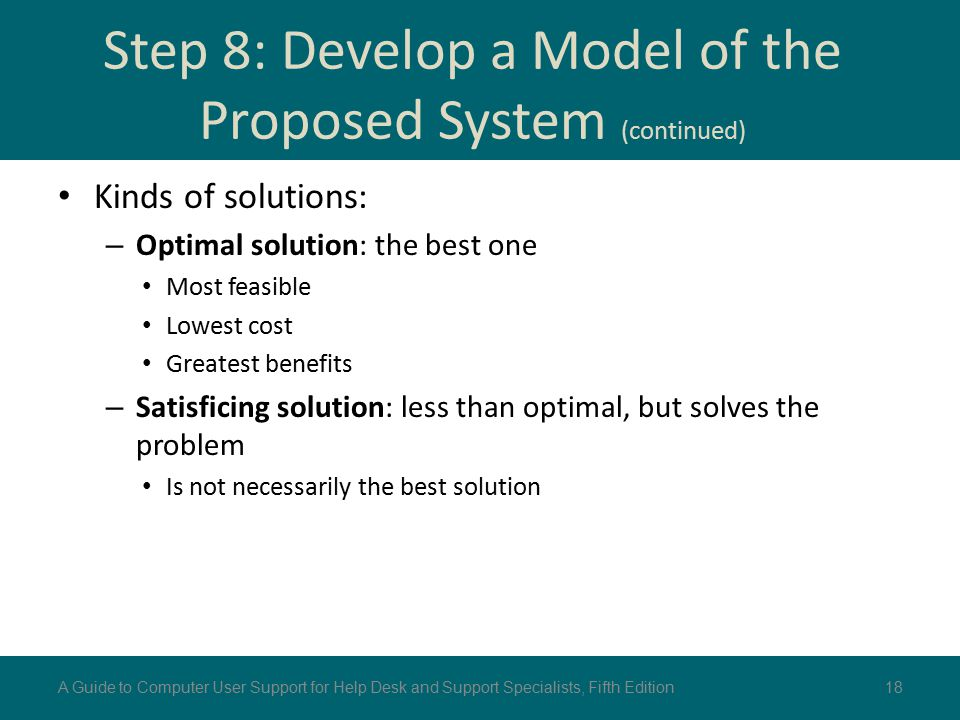 Step 8: Develop a Model of the Proposed System (continued)
