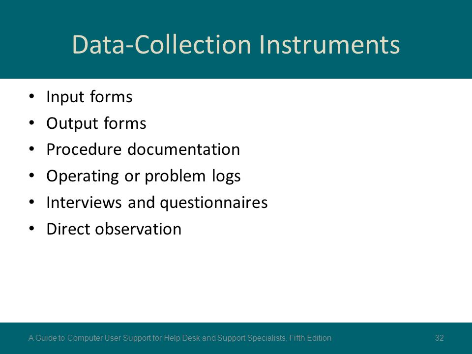 Data-Collection Instruments