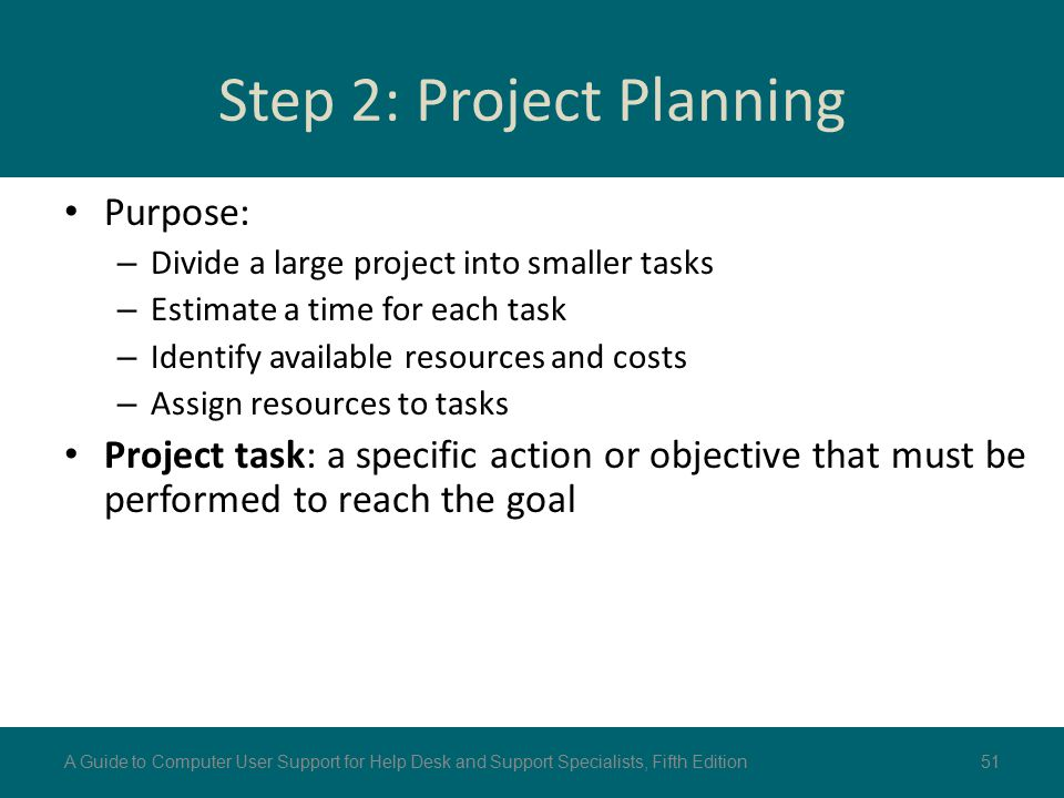 Step 2: Project Planning