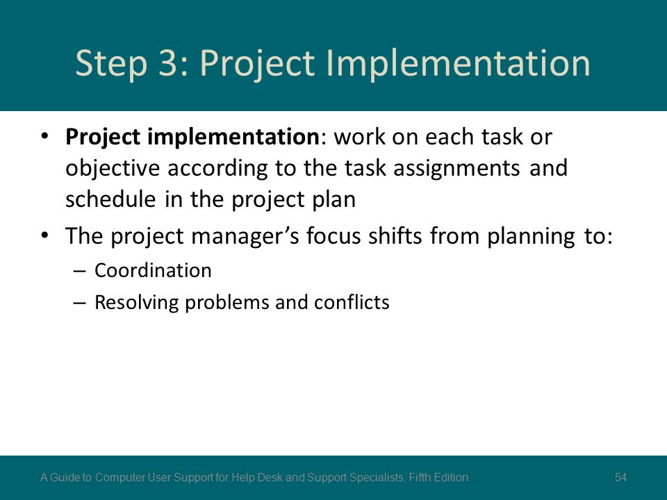 Step 3: Project Implementation