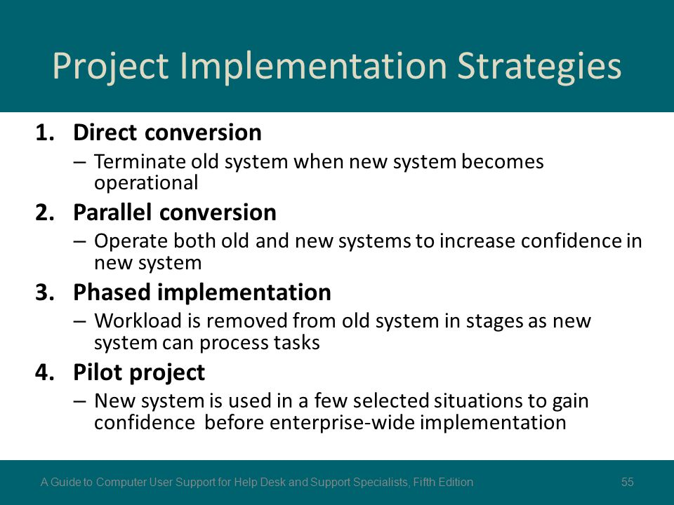 Project Implementation Strategies