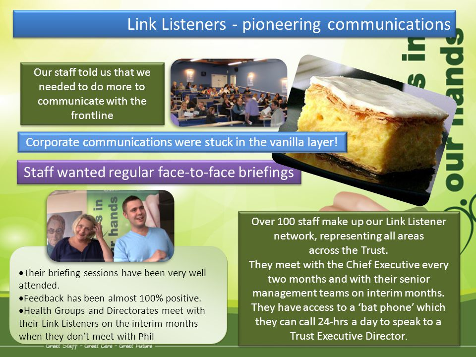 Link Listeners - pioneering communications