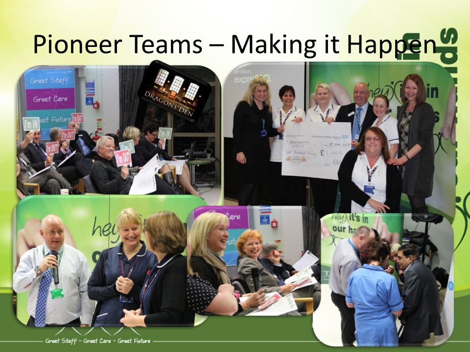 Pioneer Teams – Making it Happen