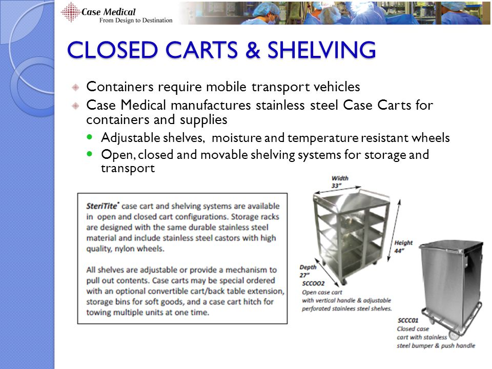 Closed Carts & Shelving