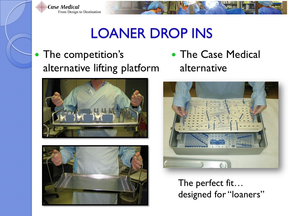 Loaner Drop Ins The competition's alternative lifting platform