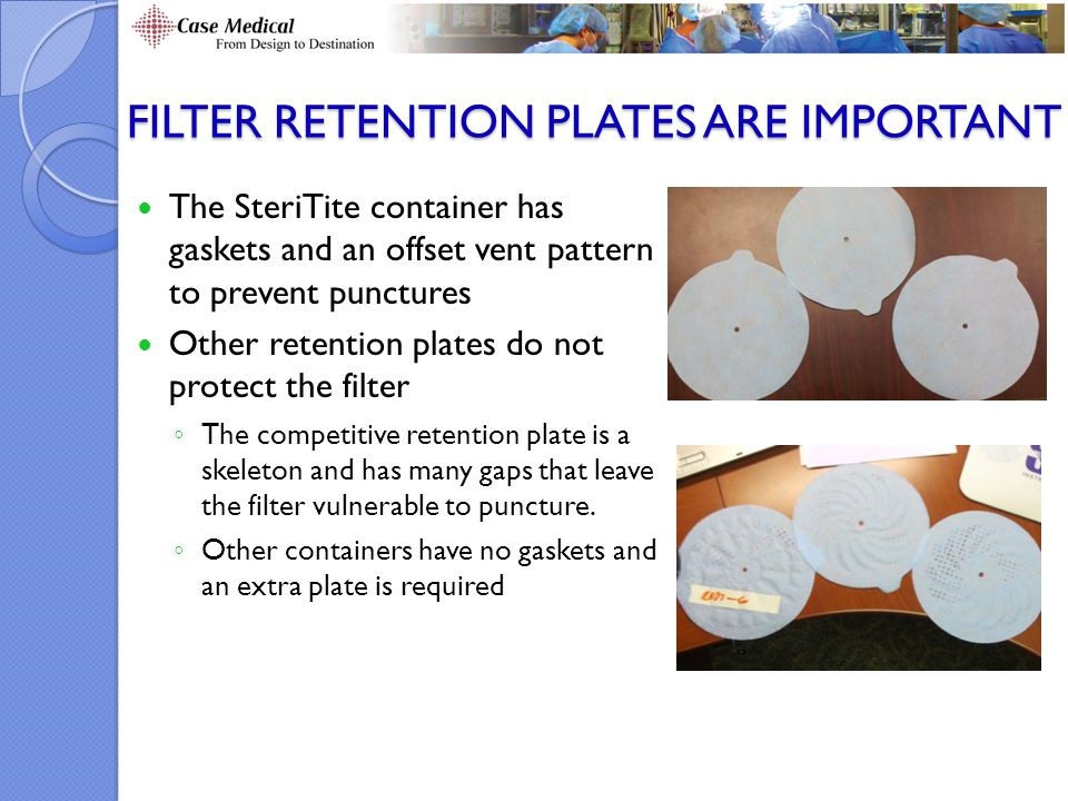 Filter Retention Plates Are Important