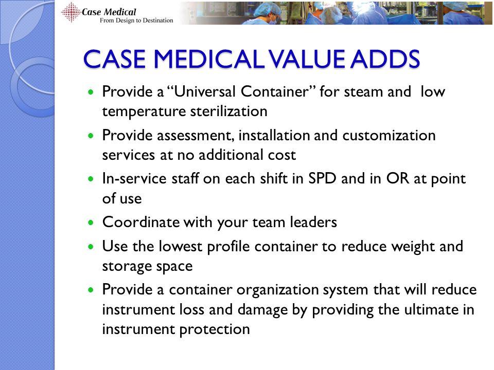 Case Medical value adds