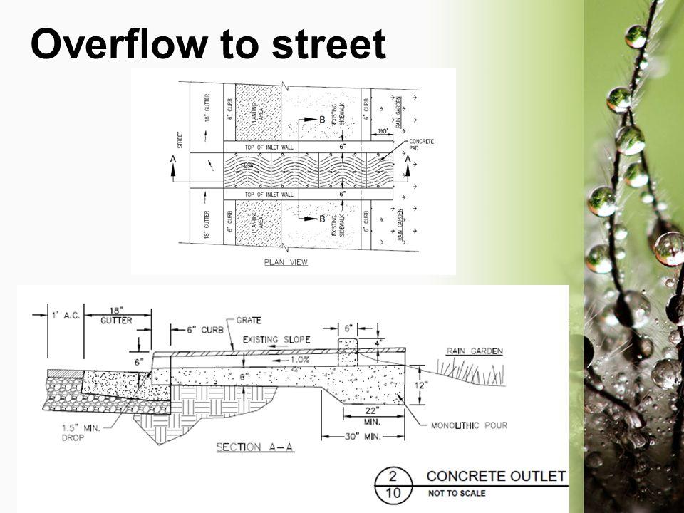 Overflow to street