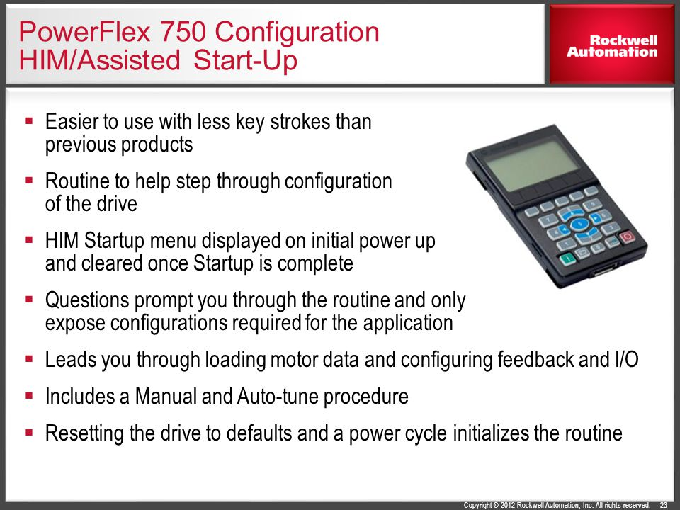 PowerFlex 750 Configuration HIM/Assisted Start-Up