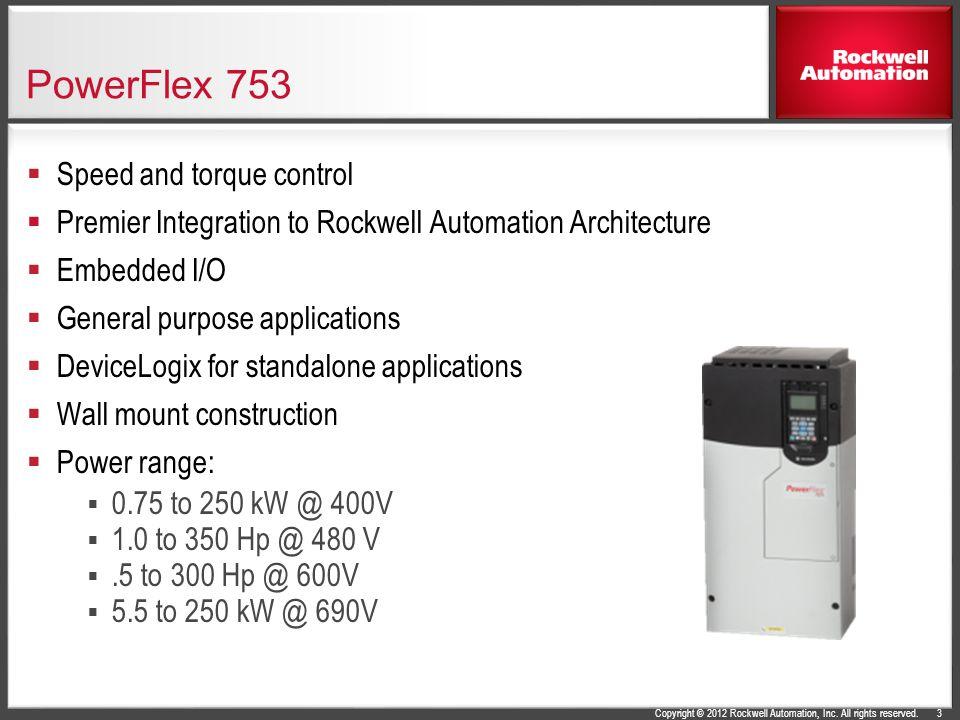 PowerFlex 753 Speed and torque control