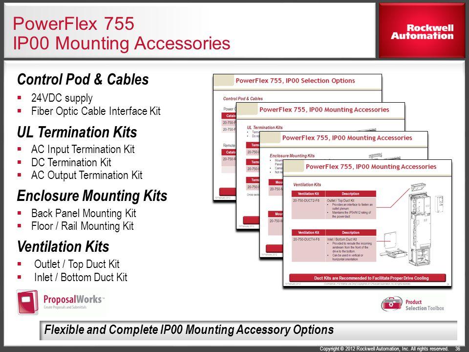 PowerFlex 755 IP00 Mounting Accessories