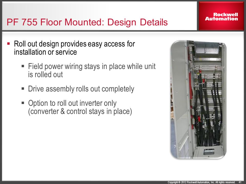 PF 755 Floor Mounted: Design Details