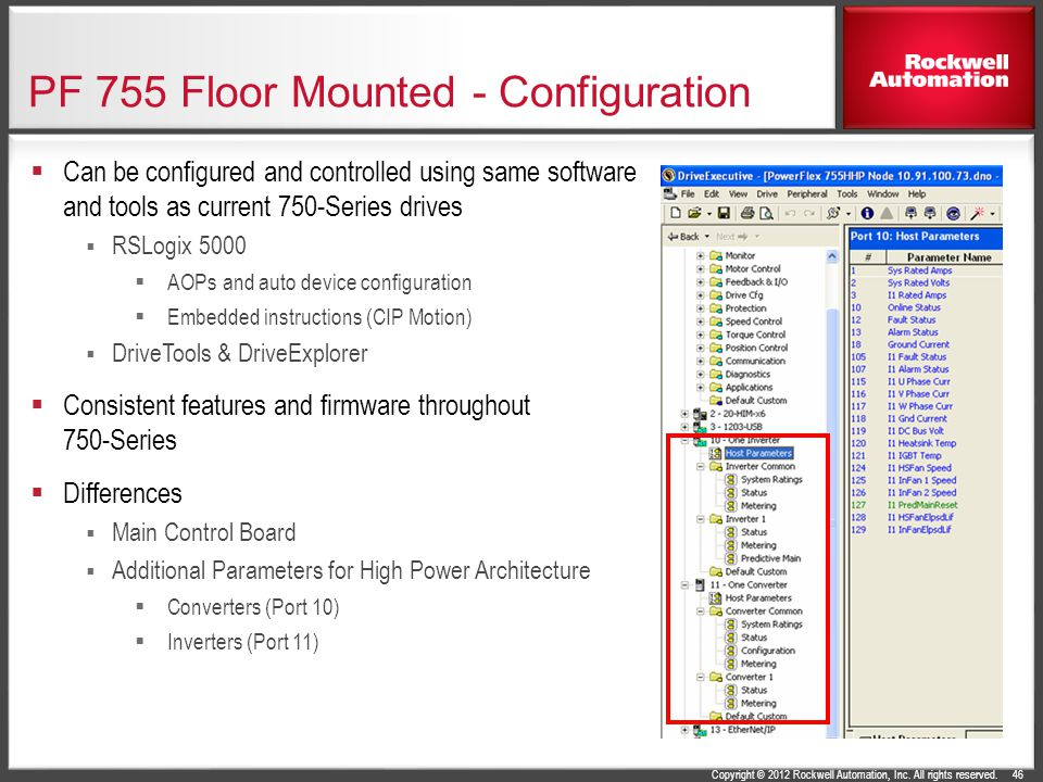 PF 755 Floor Mounted - Configuration