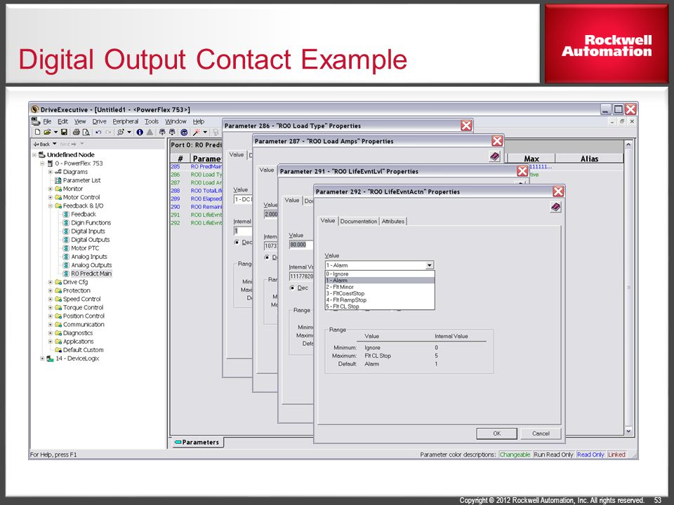 Digital Output Contact Example