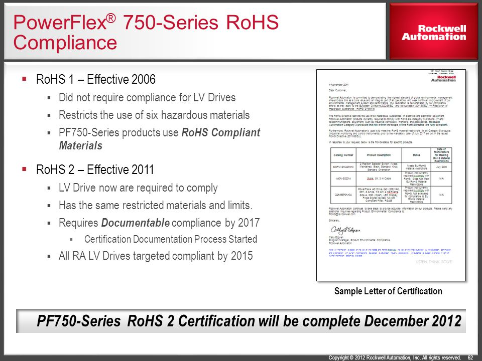 PowerFlex® 750-Series RoHS Compliance