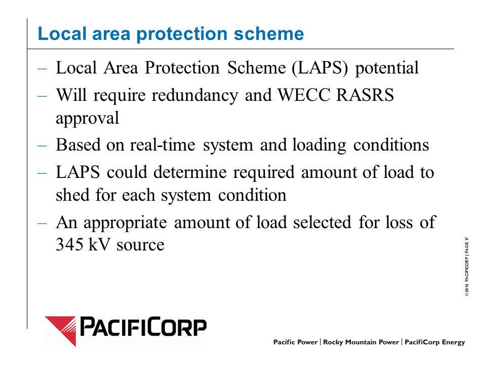 Local area protection scheme