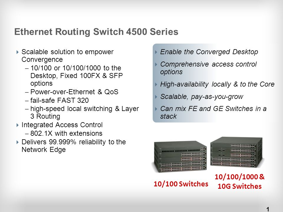 Ethernet Routing Switch 4500 Series