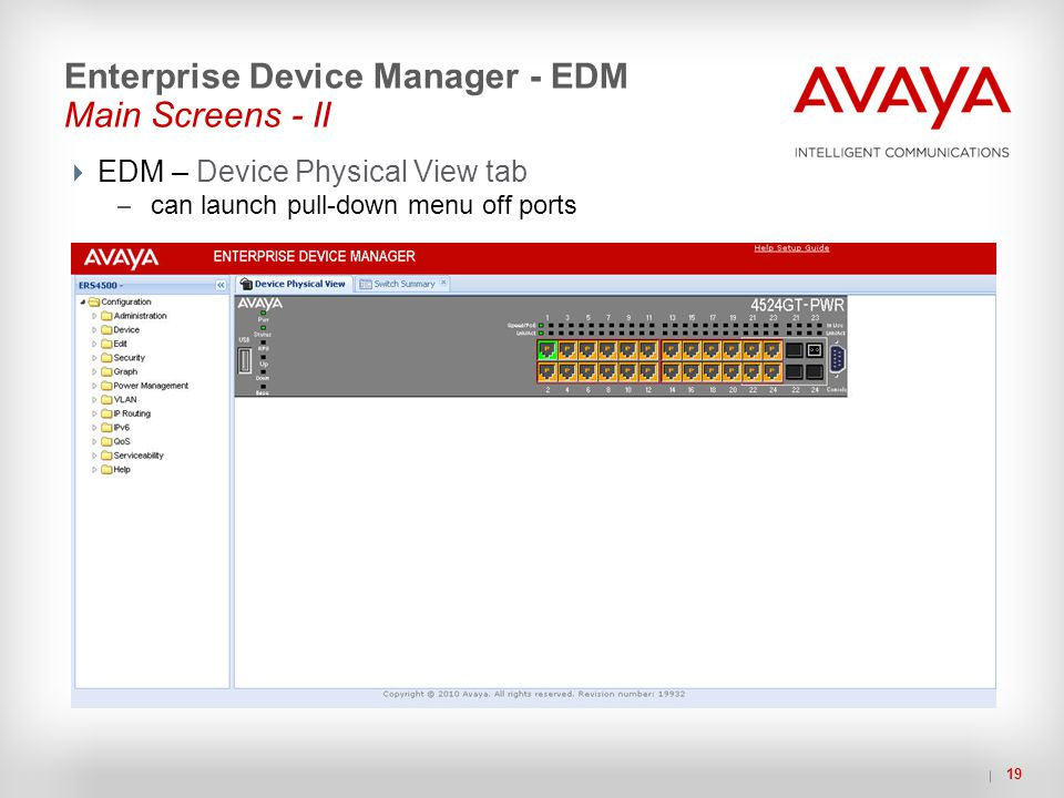 Enterprise Device Manager - EDM Main Screens - II
