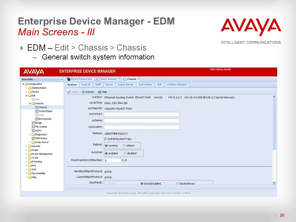 Enterprise Device Manager - EDM Main Screens - III