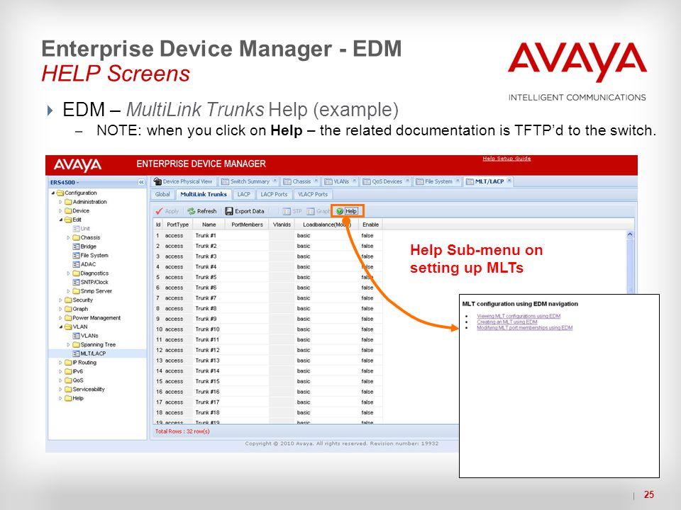 Enterprise Device Manager - EDM HELP Screens