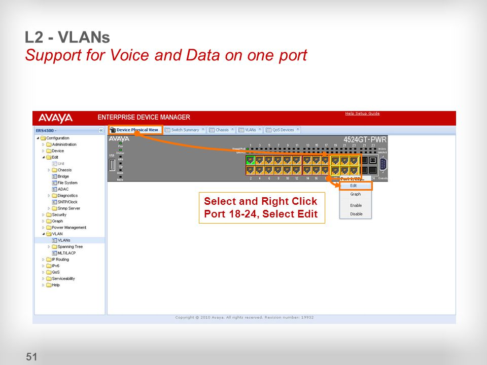 L2 - VLANs Support for Voice and Data on one port