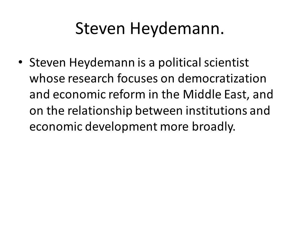 Steven Heydemann.