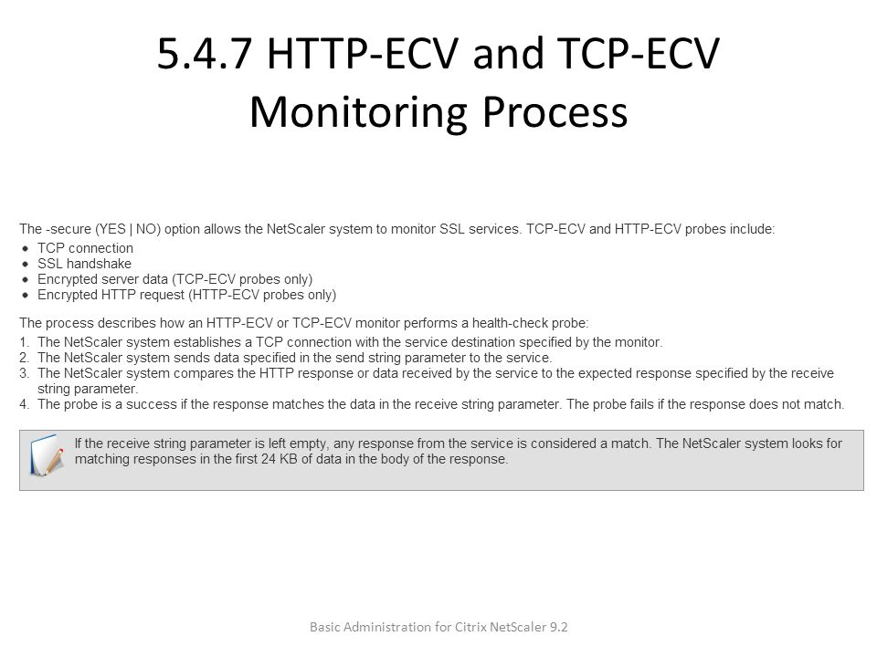 5.4.7 HTTP-ECV and TCP-ECV Monitoring Process