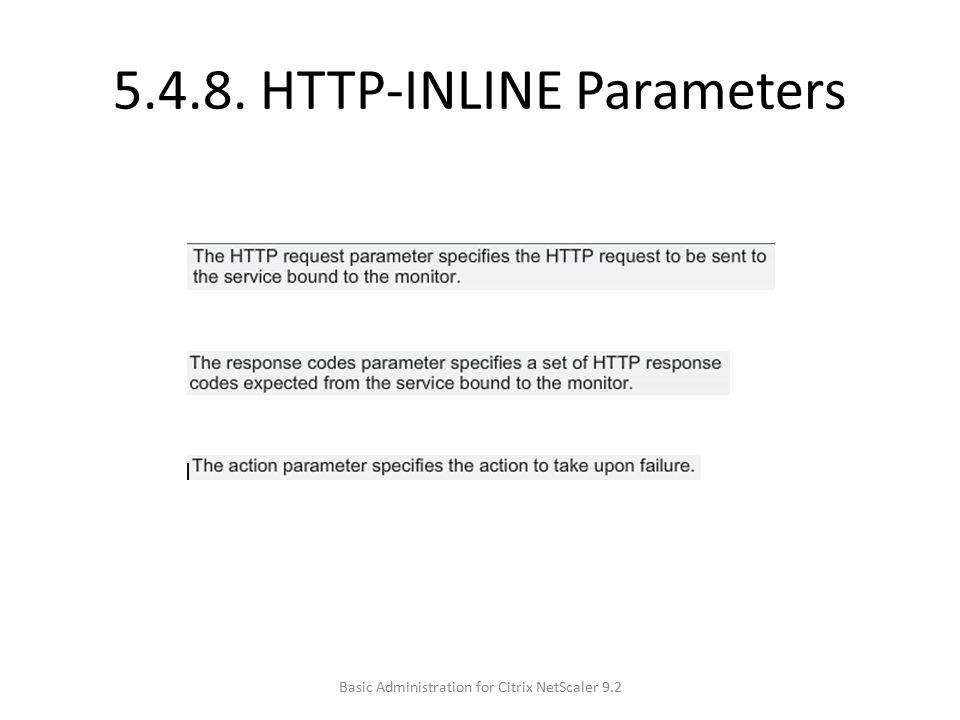 5.4.8. HTTP-INLINE Parameters