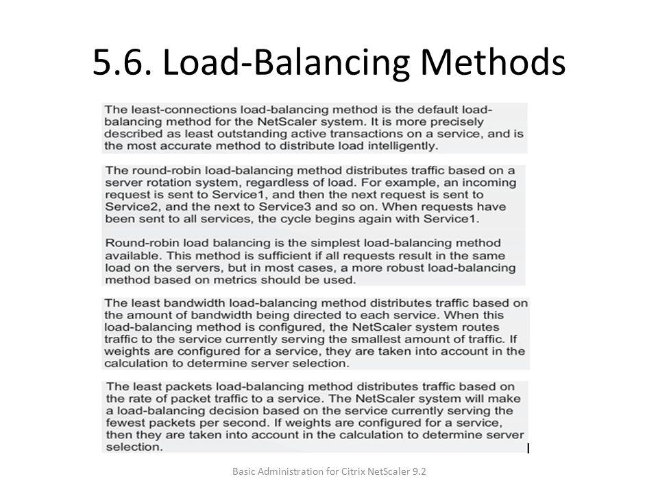 5.6. Load-Balancing Methods