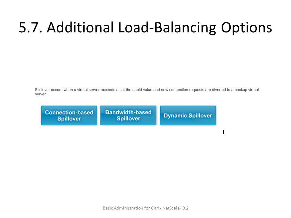 5.7. Additional Load-Balancing Options