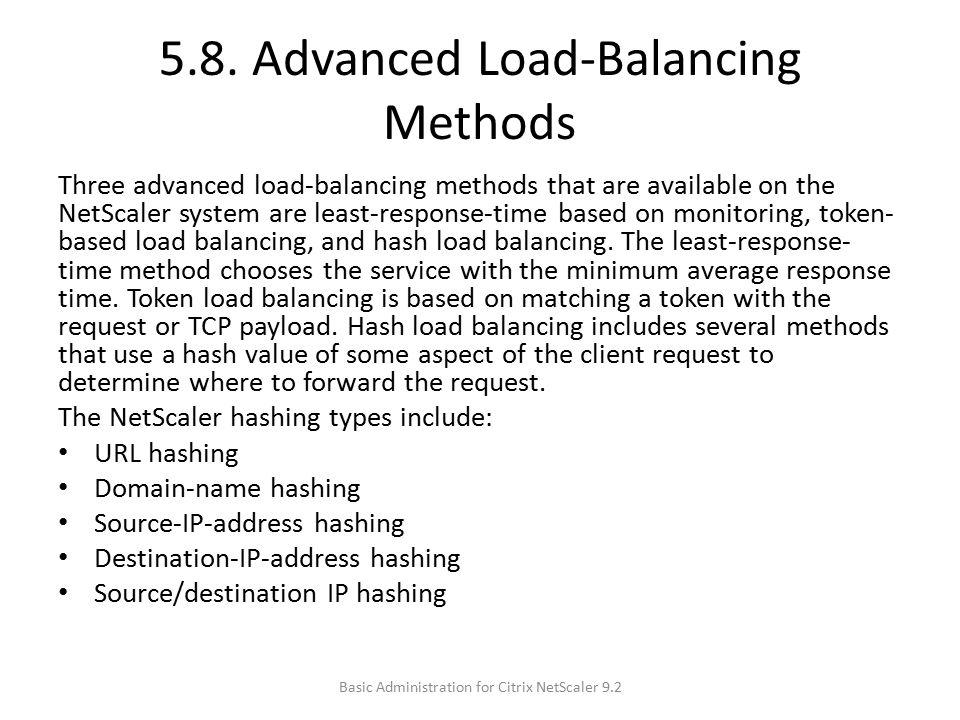 5.8. Advanced Load-Balancing Methods