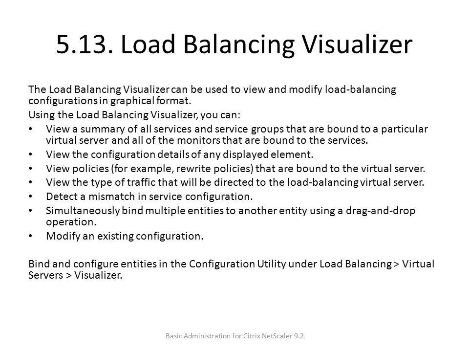 5.13. Load Balancing Visualizer