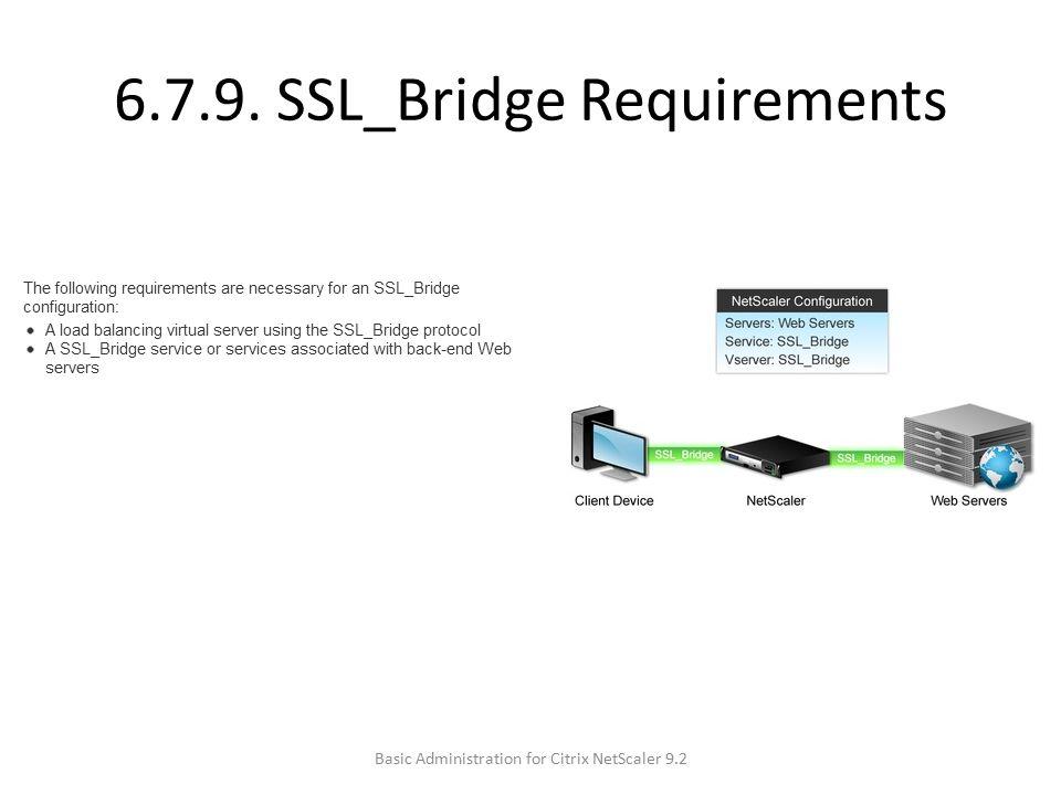 6.7.9. SSL_Bridge Requirements