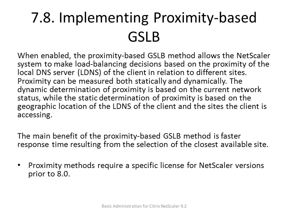 7.8. Implementing Proximity-based GSLB