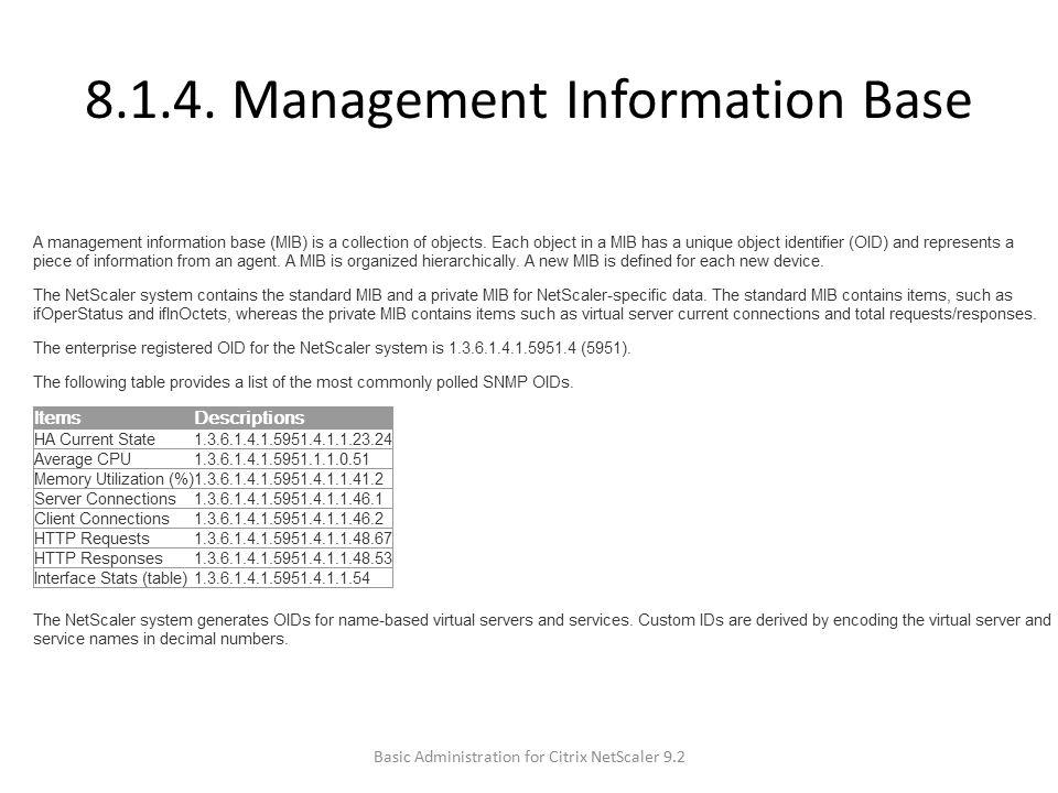 8.1.4. Management Information Base