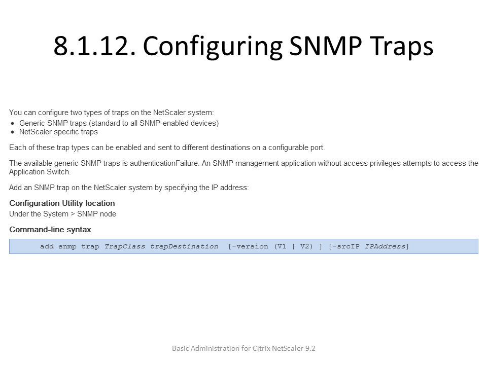 8.1.12. Configuring SNMP Traps