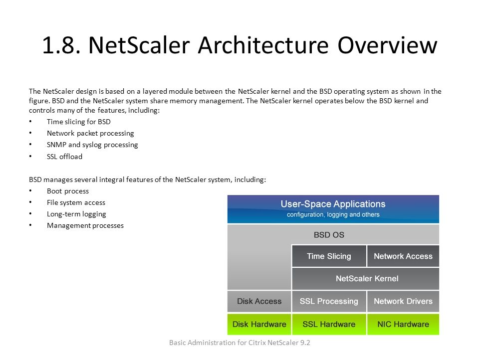 1.8. NetScaler Architecture Overview