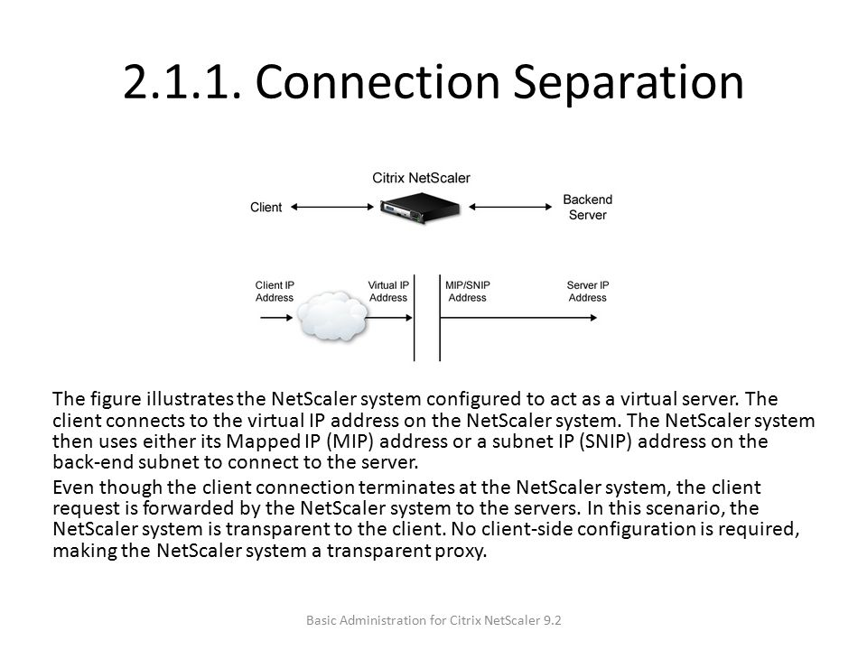 2.1.1. Connection Separation