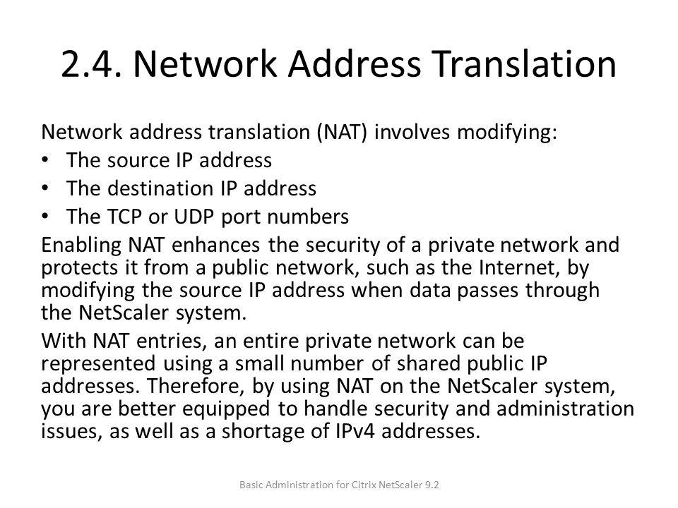2.4. Network Address Translation