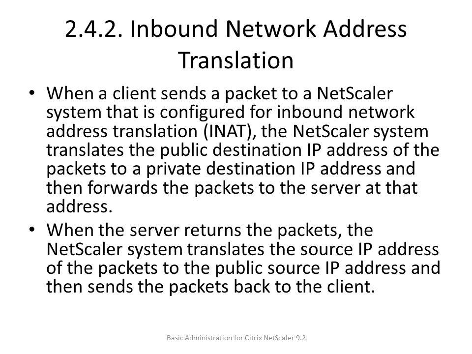 2.4.2. Inbound Network Address Translation