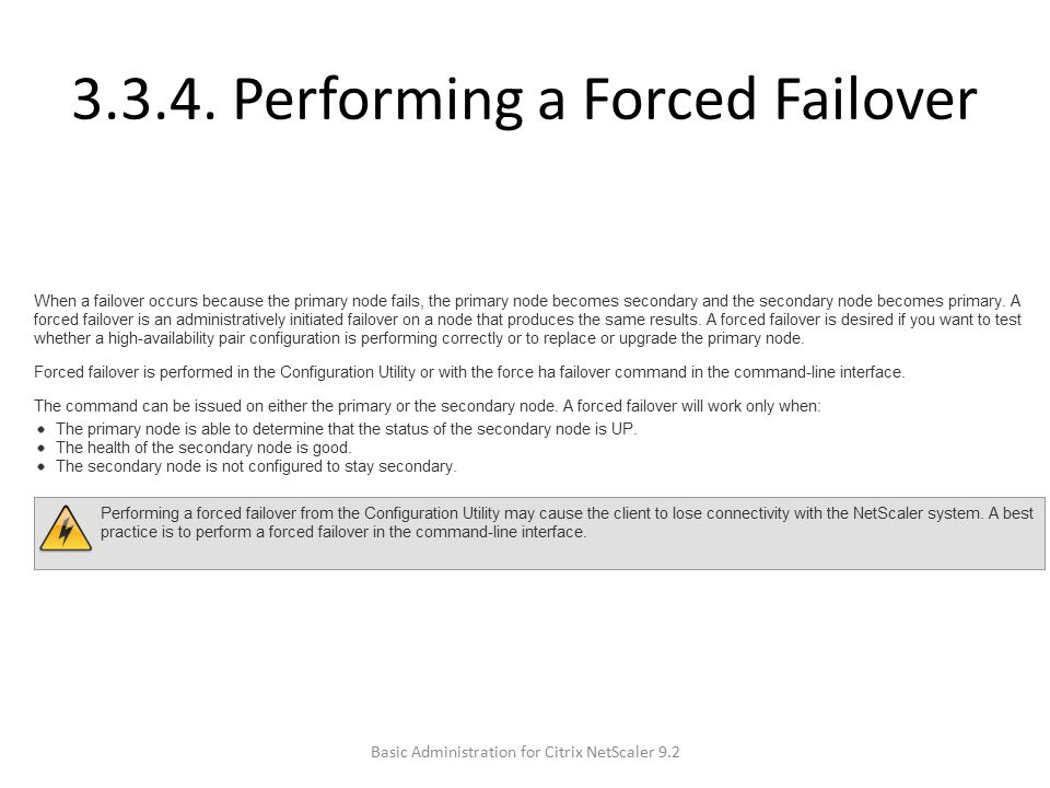 3.3.4. Performing a Forced Failover