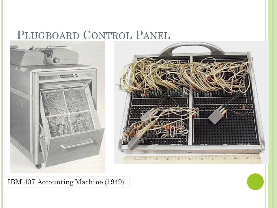 Plugboard Control Panel