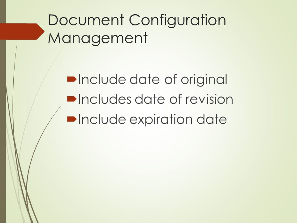 Document Configuration Management