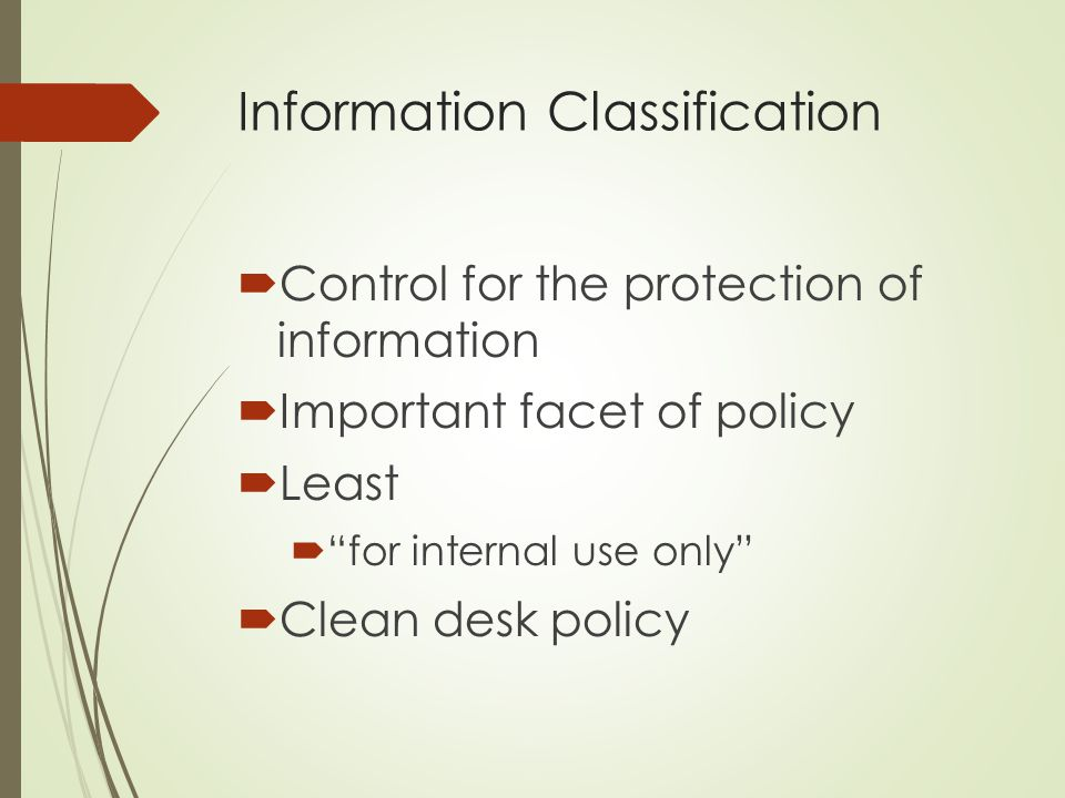 Information Classification
